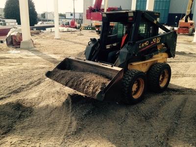 Trabajo de nivelación de terreno realizado por EXCAVACIONES JODAR para OHL