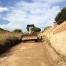 Trabajo de nivelación de terreno (camino) realizado por EXCAVACIONES JODAR para CLIENTE PARTICULAR